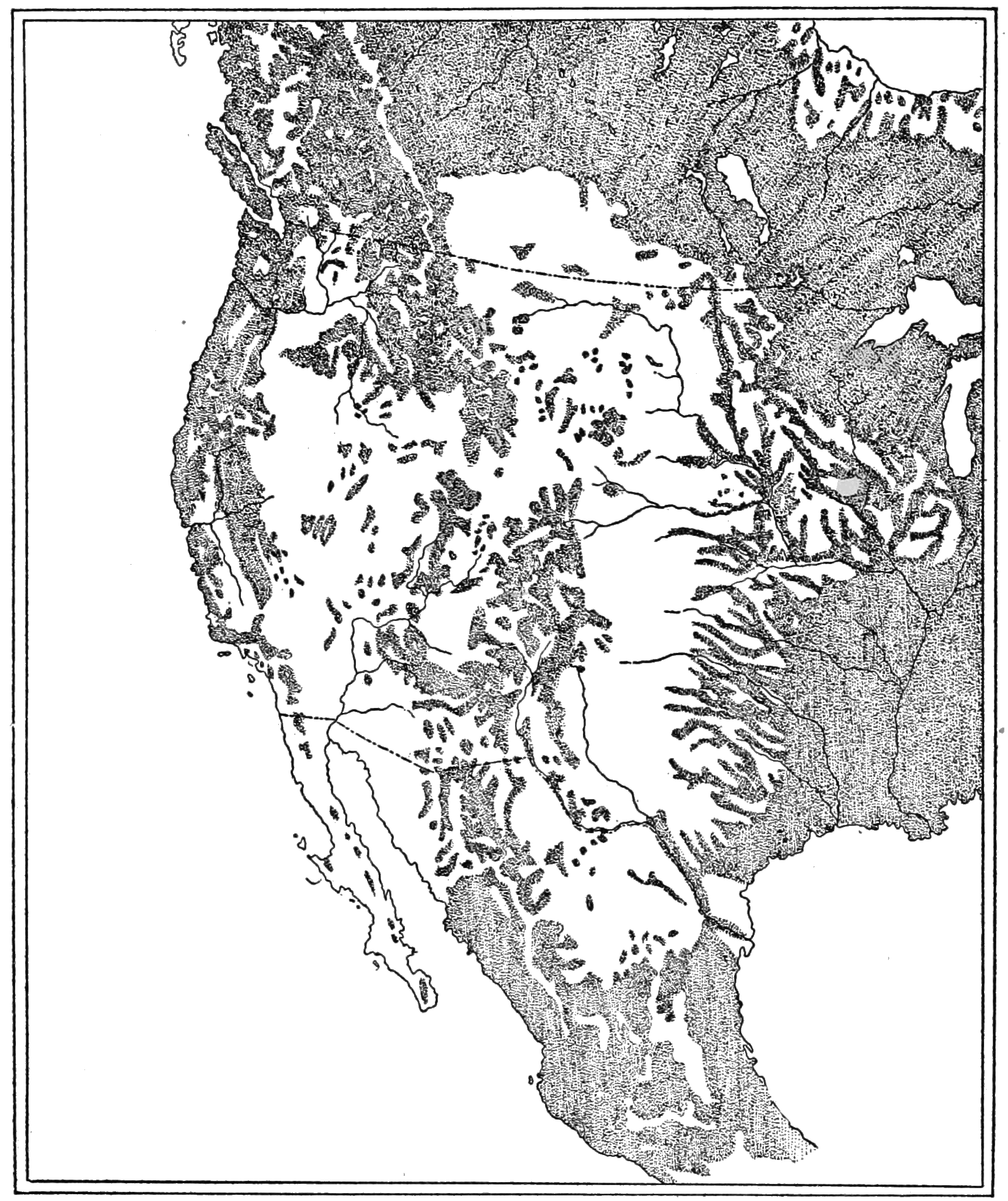 PSM V82 D445 Distribution of forests in western united states.png