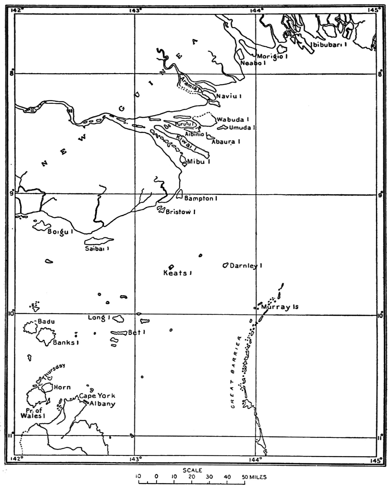 Torres Strait Expedition Map of Torres Straits