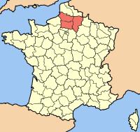 Picardies beliggenhed i Frankrig
