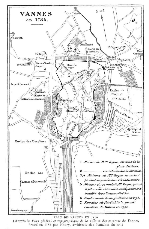 Plan de Vannes