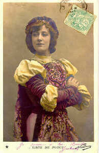 A postcard depicting Liane de Pougy.