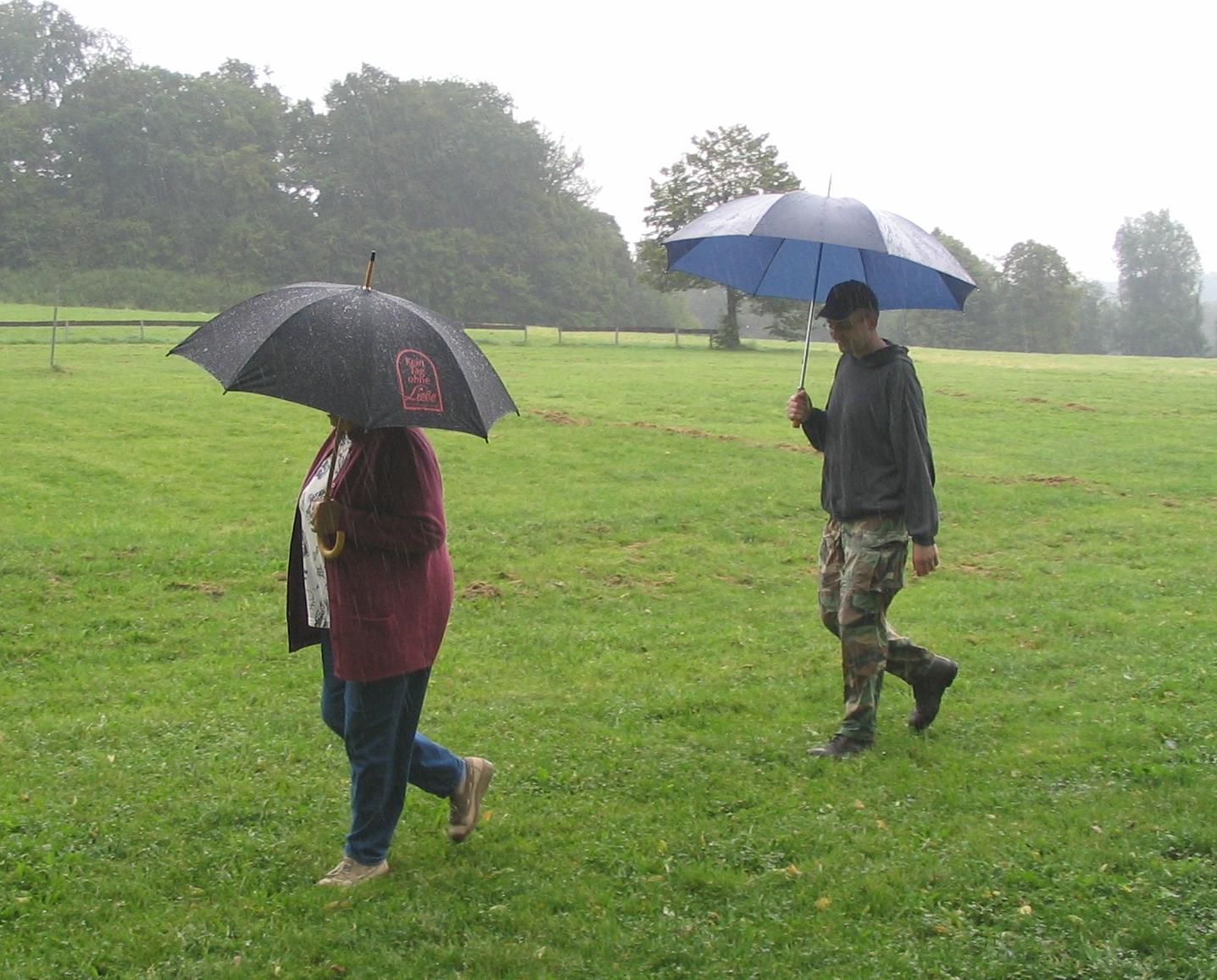 Schirm Bei Gewitter