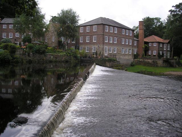 River Nidd, Weir and Castle Mill, Knaresborough - geograph.org.uk - 1404253