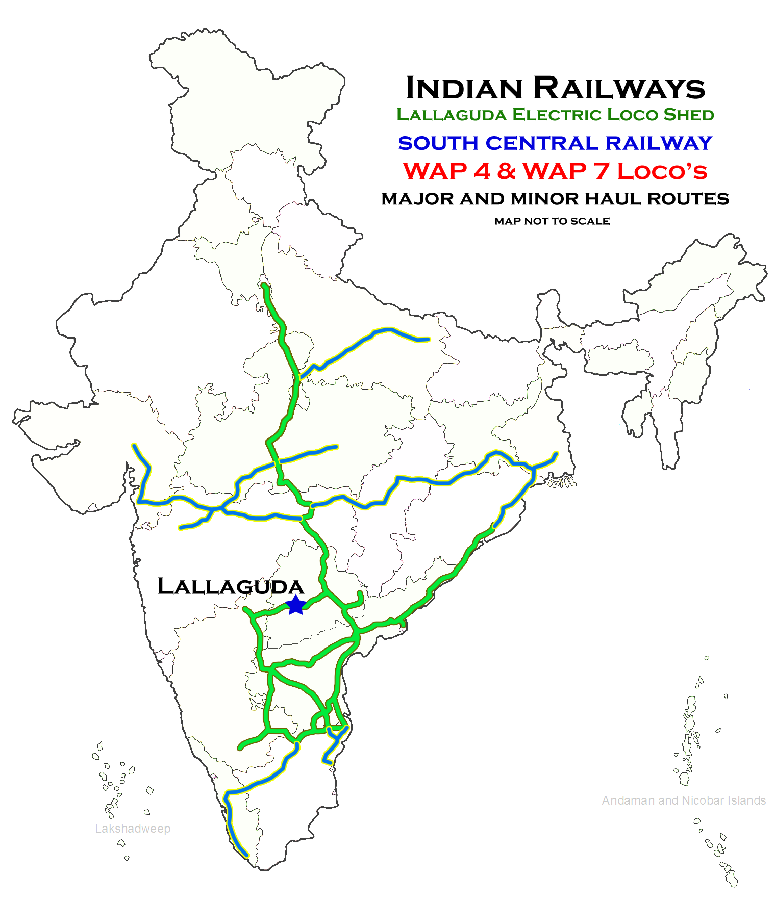 Route haul map of LGD ELS