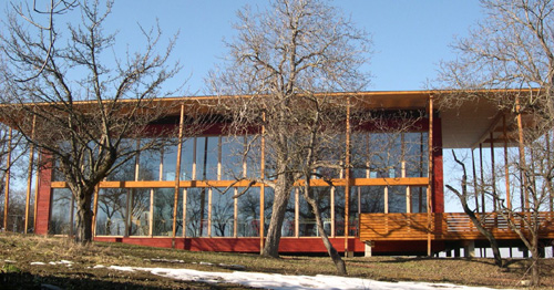 Photograph of a passive house