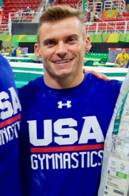 The 25-year old son of father (?) and mother(?) Sam Mikulak in 2018 photo. Sam Mikulak earned a  million dollar salary - leaving the net worth at 0.2 million in 2018