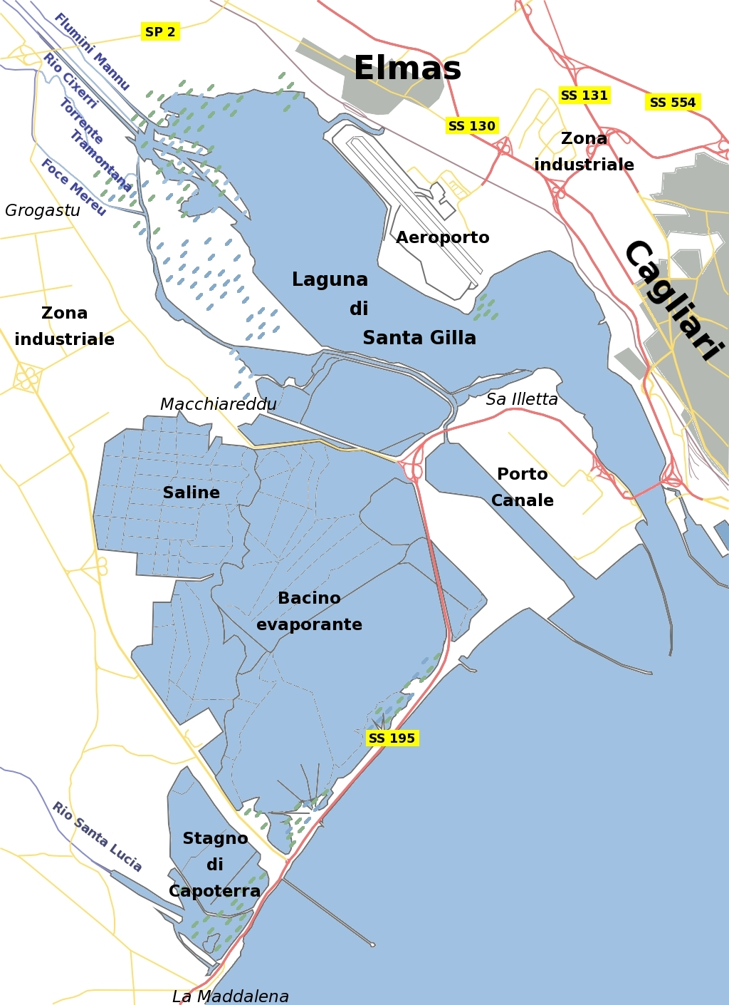 Cartina Di Uta Sardegna.Macchiareddu Grogastu Wikipedia