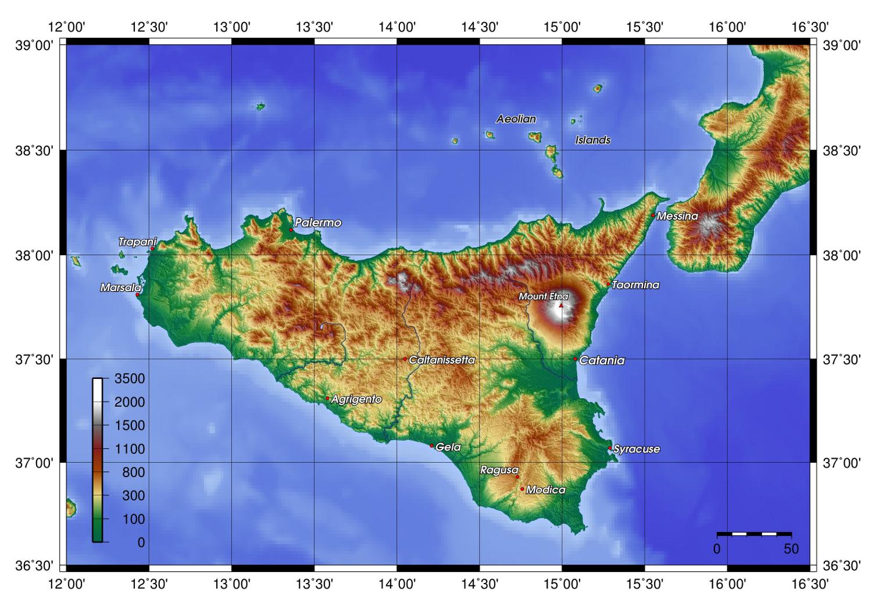 Sicile : Histoire, Patrimoine, Cartes & Documents en ligne