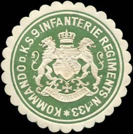 File:Siegelmarke Kommando des Königlich Sächsischen 9. Infanterie Regiments Nr. 133 W0216556.jpg