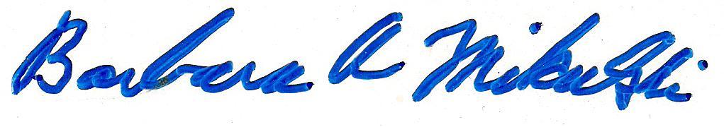 Barbara Mikulski signature