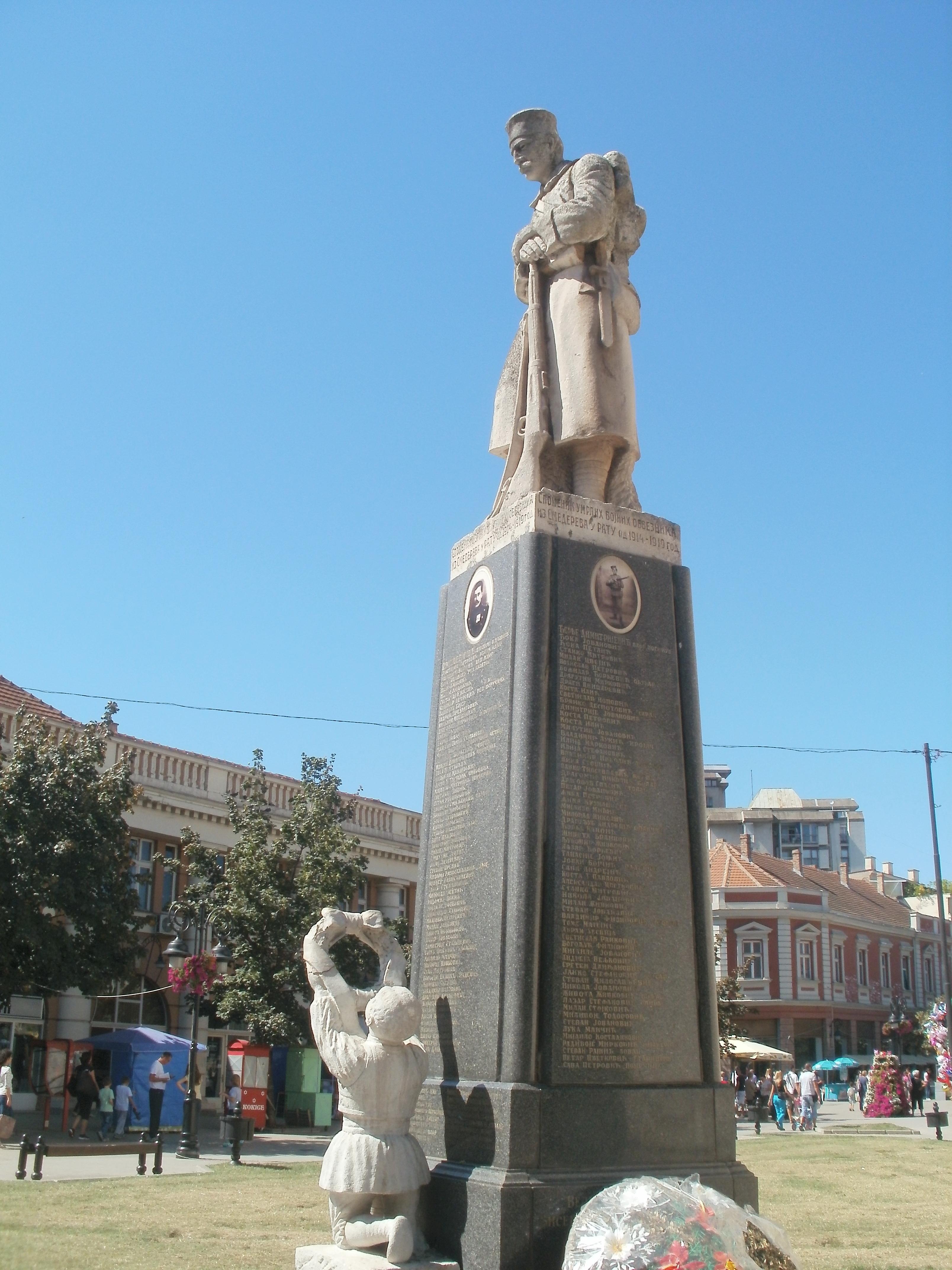 File Smederevo Spomenik Palim Borcima U Prvom Svetskom Ratu 14