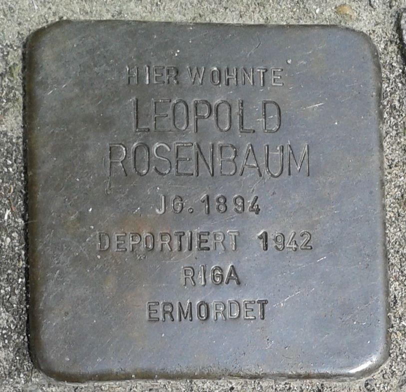 Stolperstein Datteln Mittelstraße 18 Leopold Rosenbaum