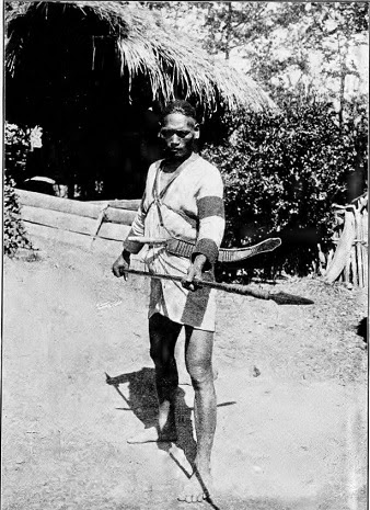 Photograph of Atayal warrior taken in the 1900s