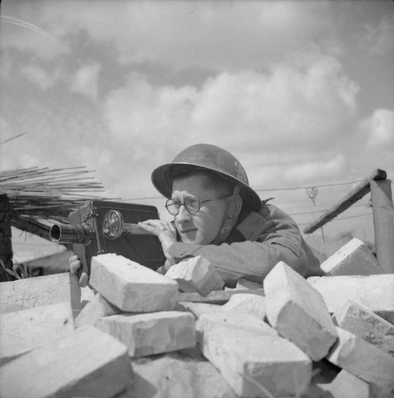 Photographe de guerre britannique pendant la 2 GM