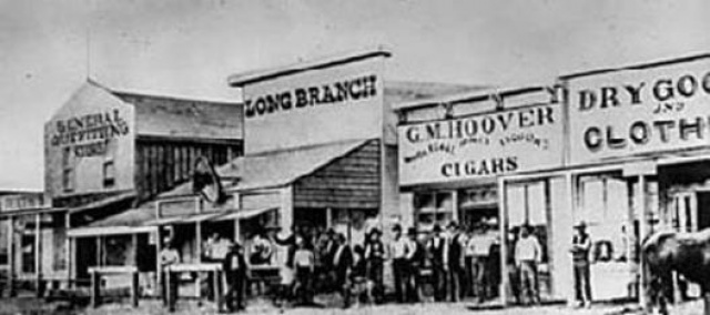 The Long Branch Saloon in 1874