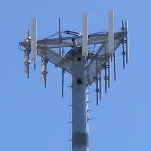 Cellular network communication network where the last link is wireless