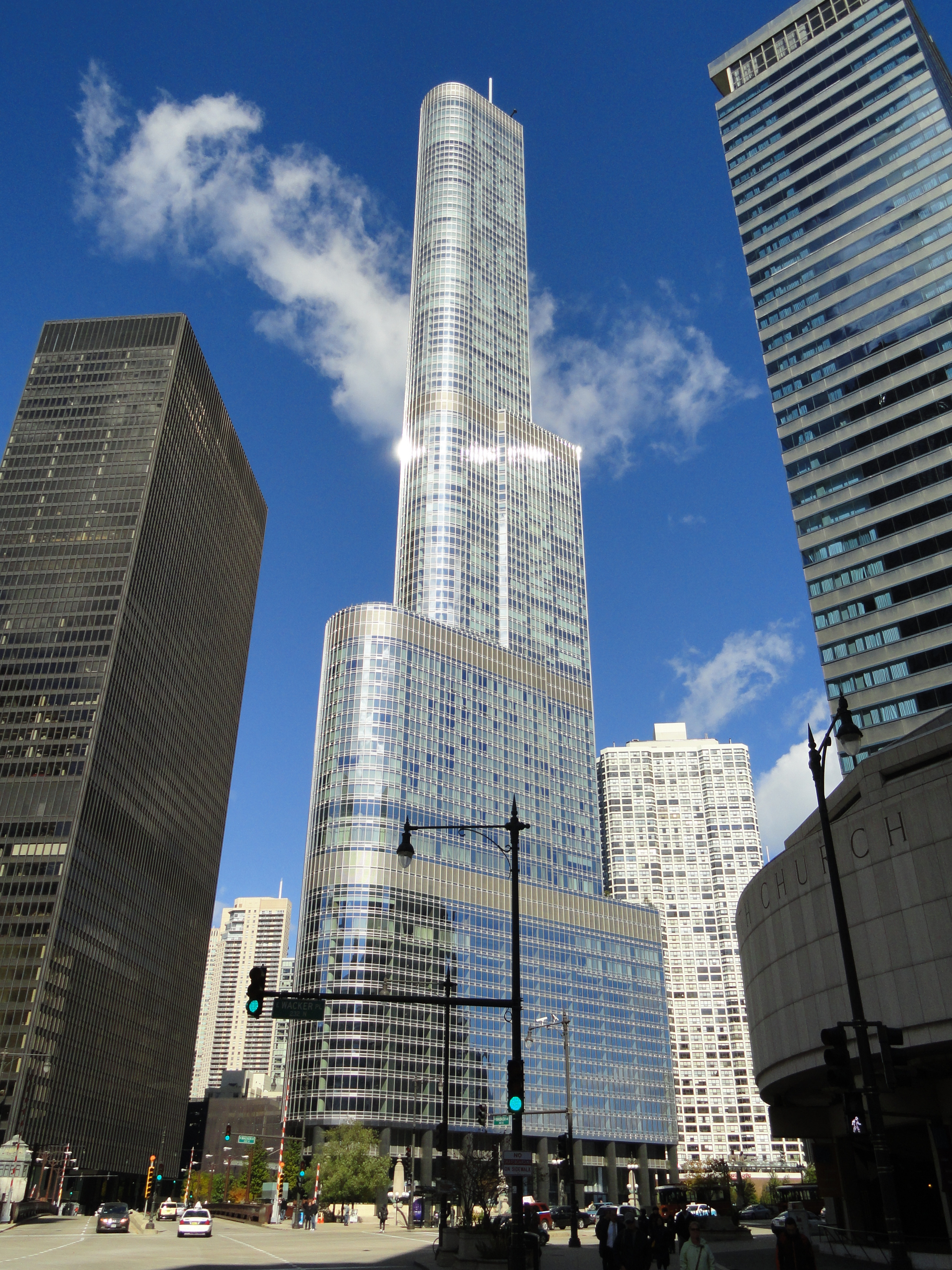 """the Trump Hotel/Condo in Chicago, before they put up the big """"Trump ..."""
