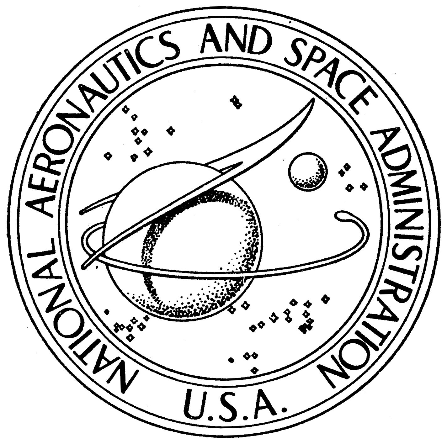 nasa emblem black and white - photo #17