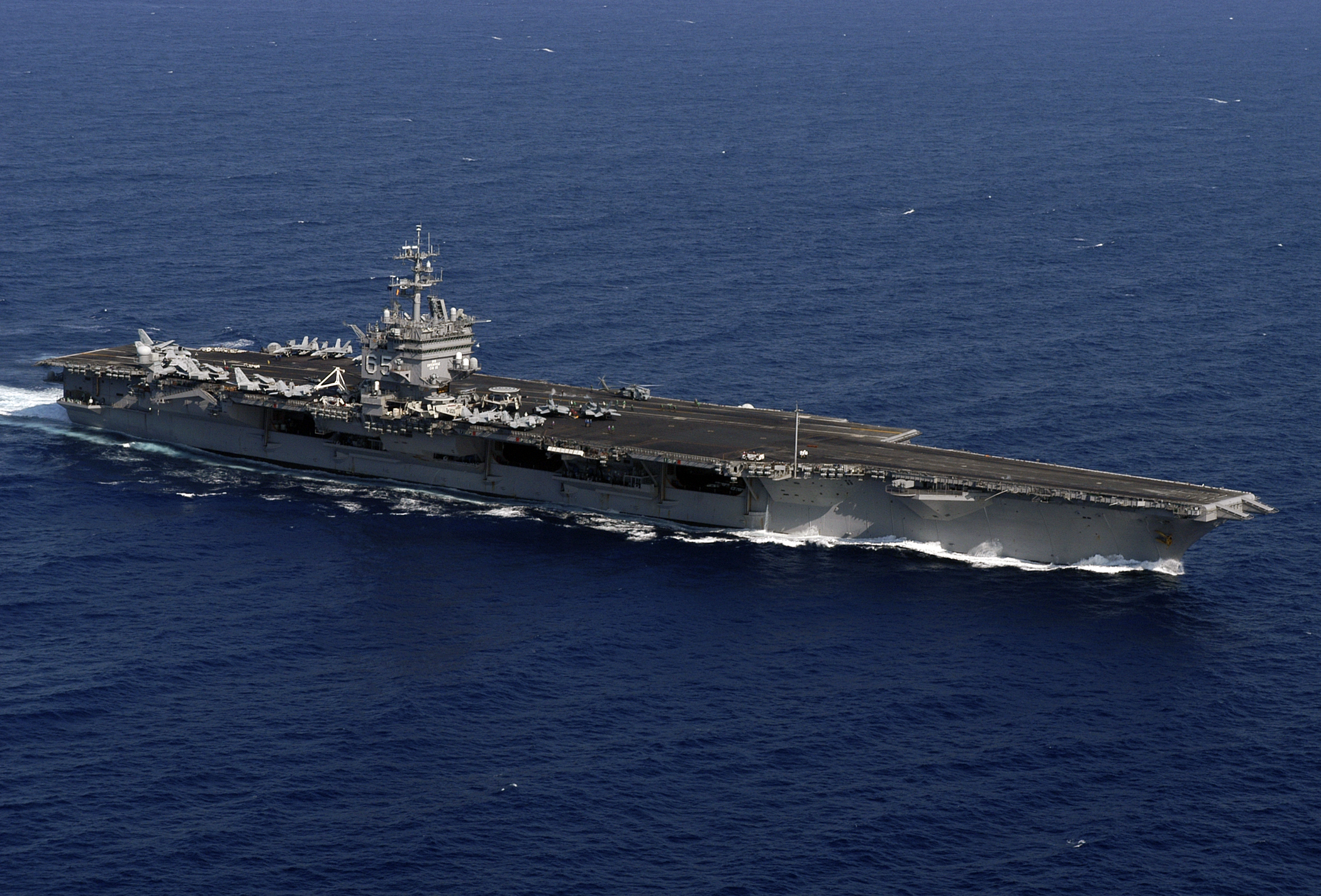 USS ENTERPRISE CVN-65 8X12 PHOTO US NAVY SHIP ATLANTIC 6 ...