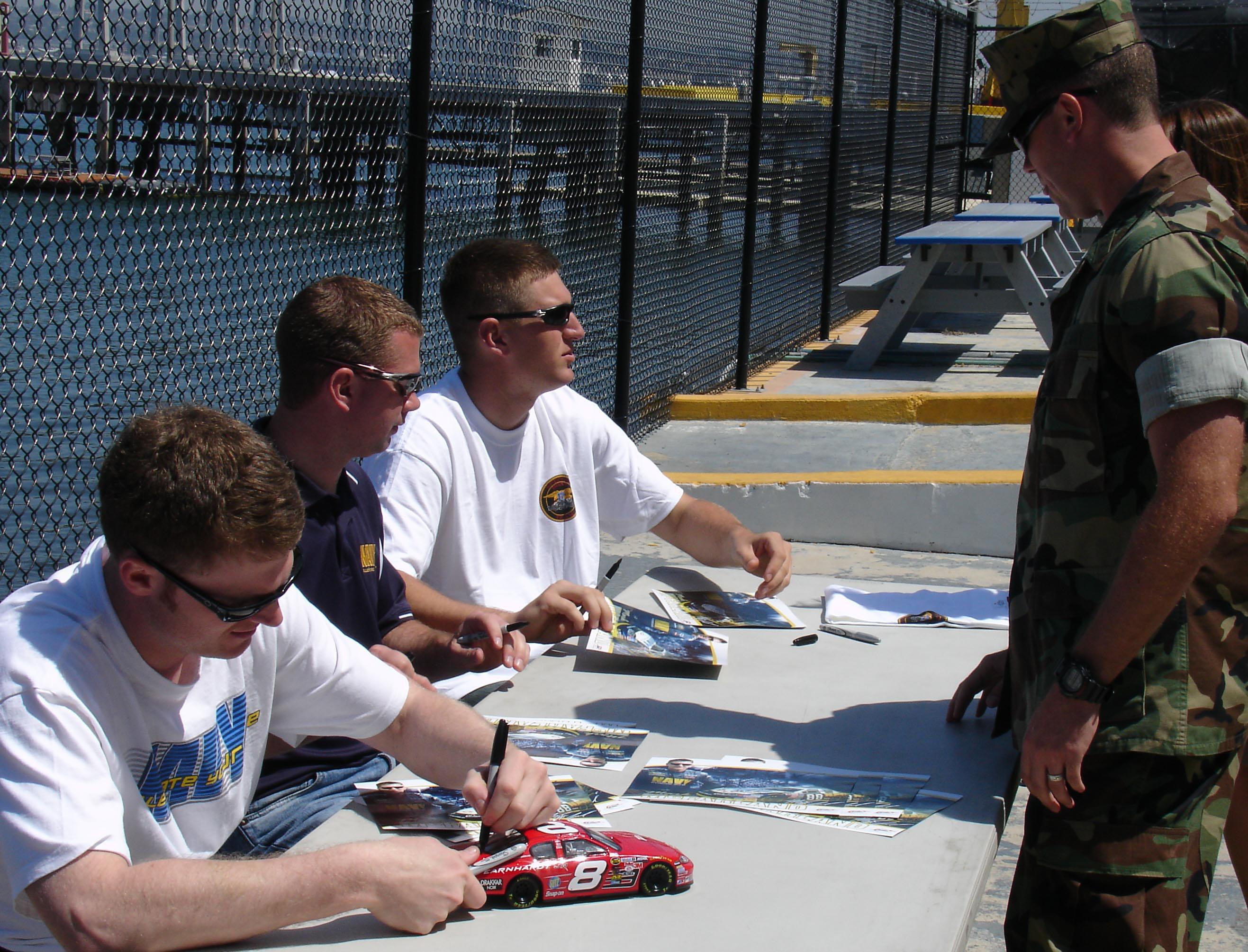File:US Navy 060419-N-6552M-001 NASCAR racers Dale Earnhardt Jr ...