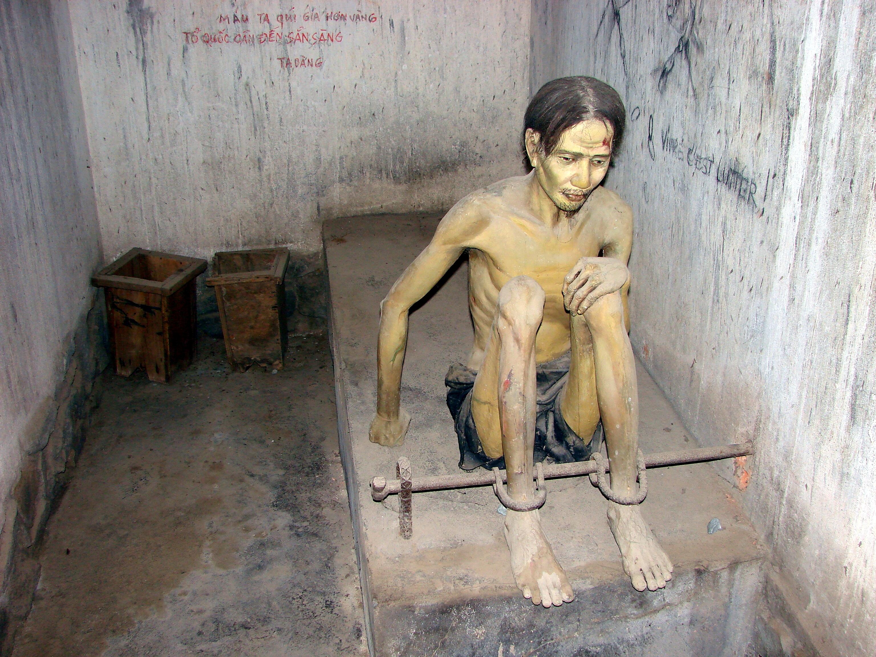 Vietnam - Hanoi - War Remnants Museum - Prisoner.JPG