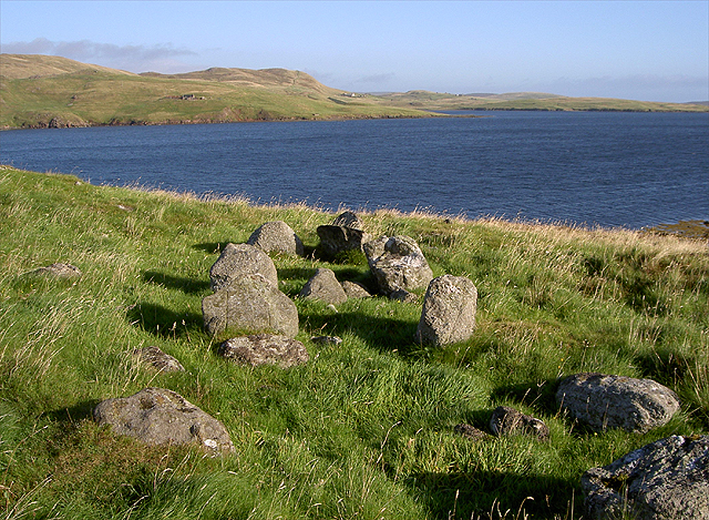 View towards Mavis Grind Looking at the stones, could this have been a burial mound?