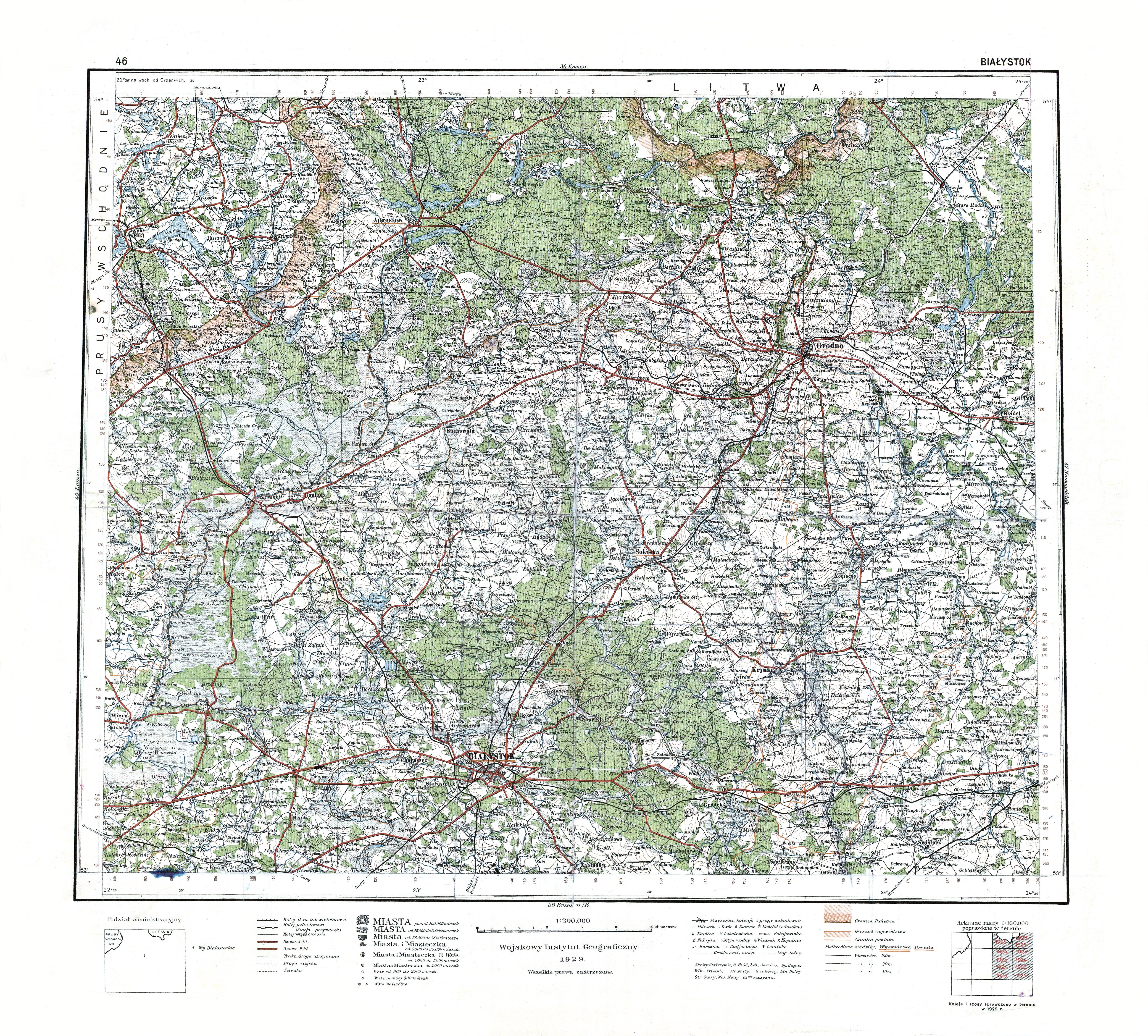 File Wig Mapa Operacyjna Polski 46 Bialystok 1929 Jpg