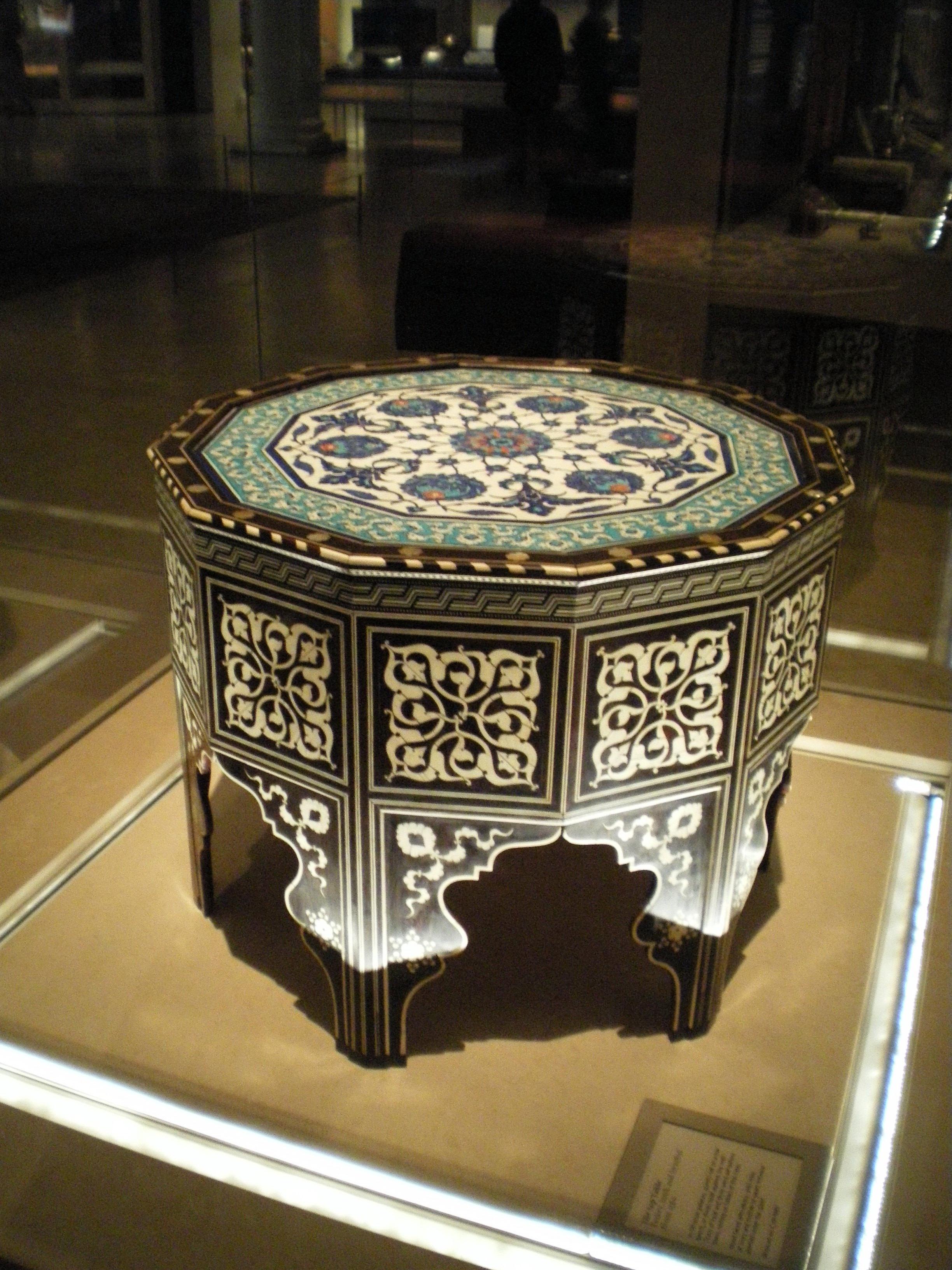 WLA Vanda Ottoman Marquetry And