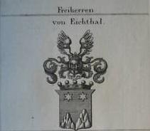 Wappen der Freiherrn von Eichthal (Quelle: Wikimedia)
