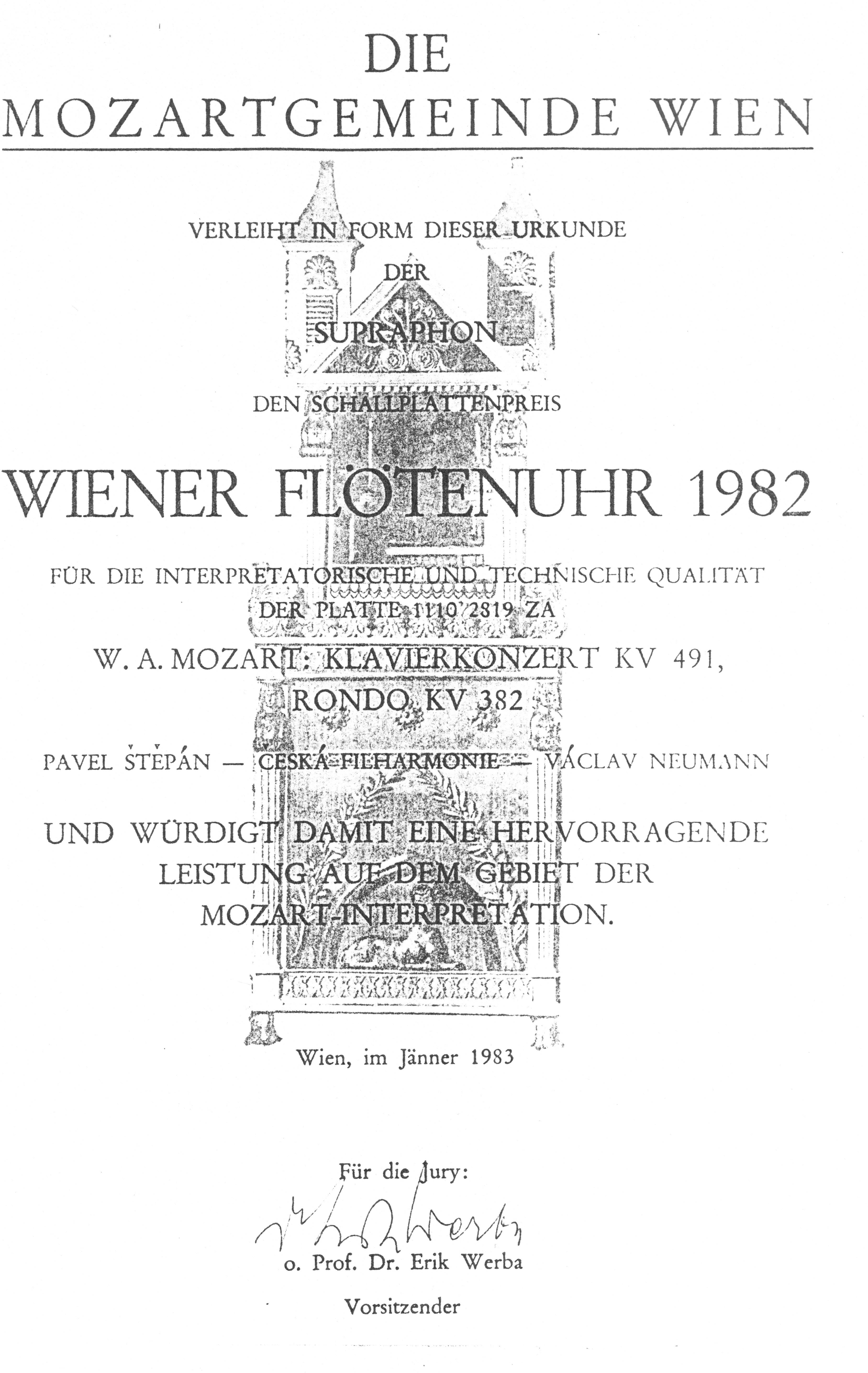 Wiener Flötenuhr 1982