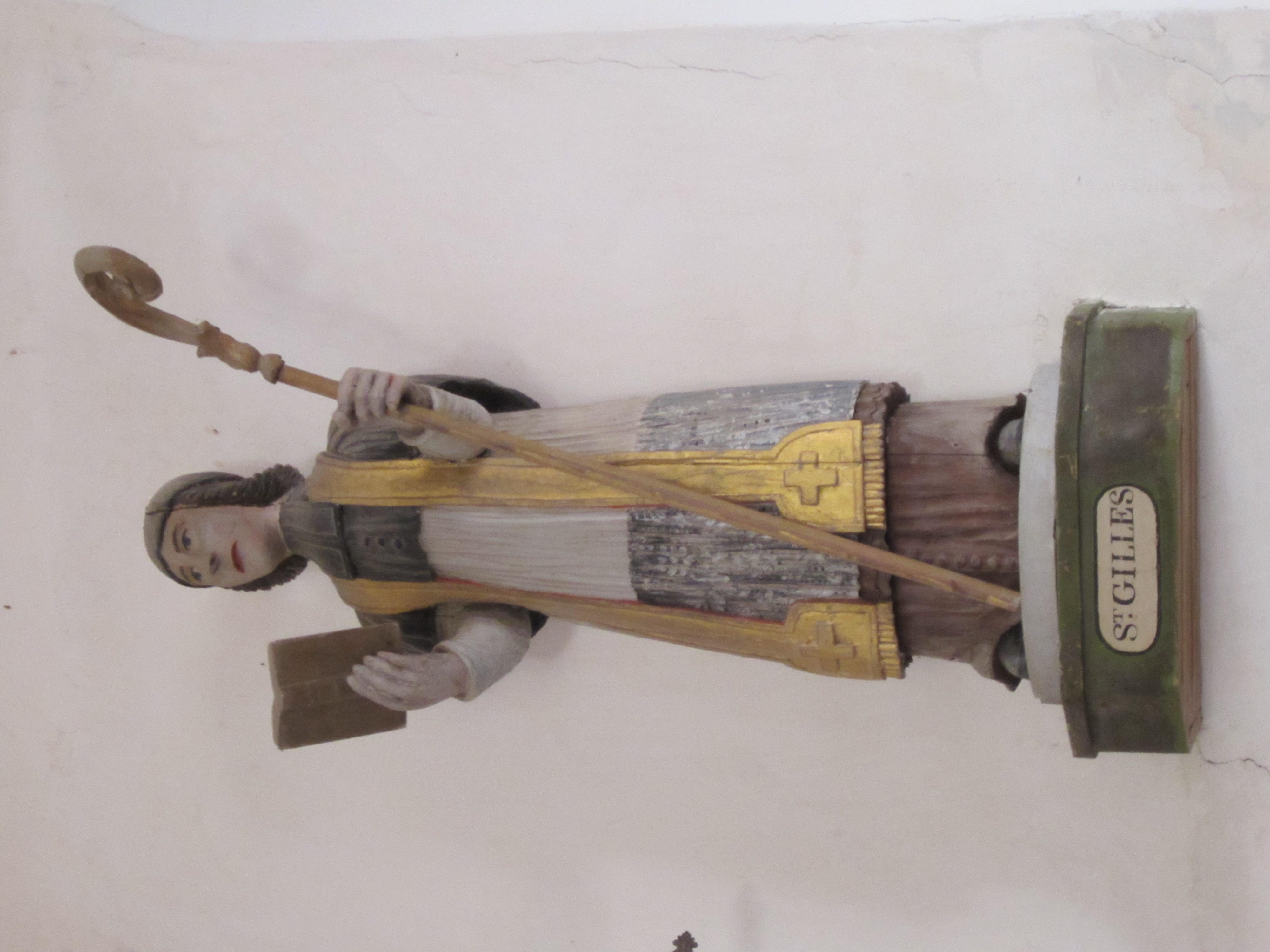 File:Église Notre-Dame du Mesnil-au-Val - Statue de Saint Gilles.JPG ...