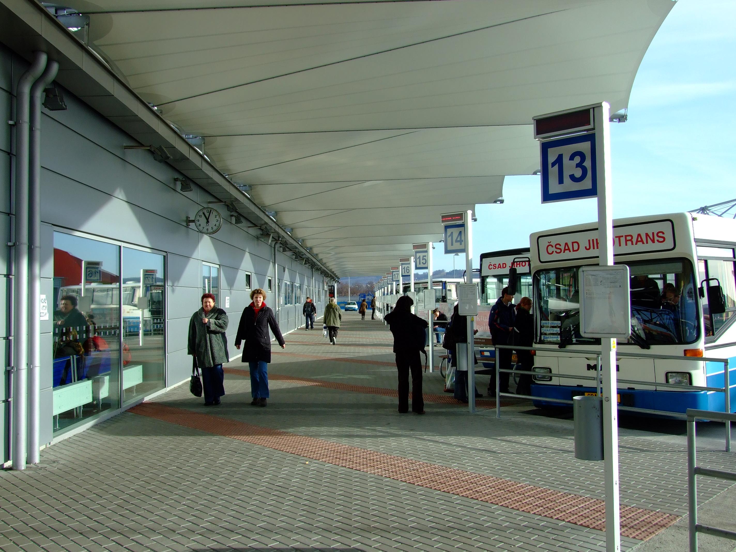 Autobusové nádraží české budějovice české budějovice