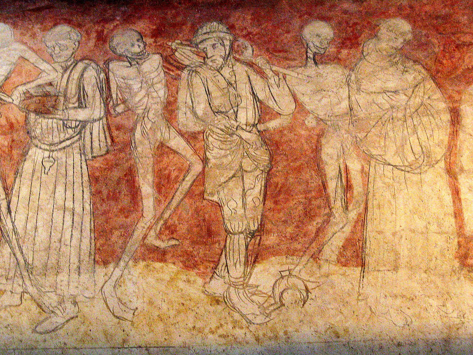 Picture credit: Jean-Pol GRANDMONT http://commons.wikimedia.org/wiki/File:01_La_Chaise-Dieu_-_La_danse_macabre_1.JPG