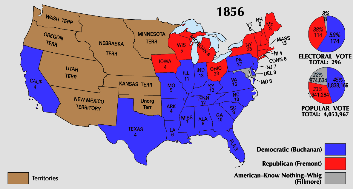 Electoral Map Antebellum America Maps - Map of the us 1820