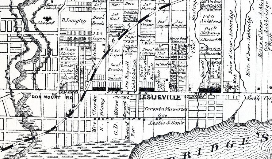 File:1878 map of York County, east of the mouth of the Don River ...