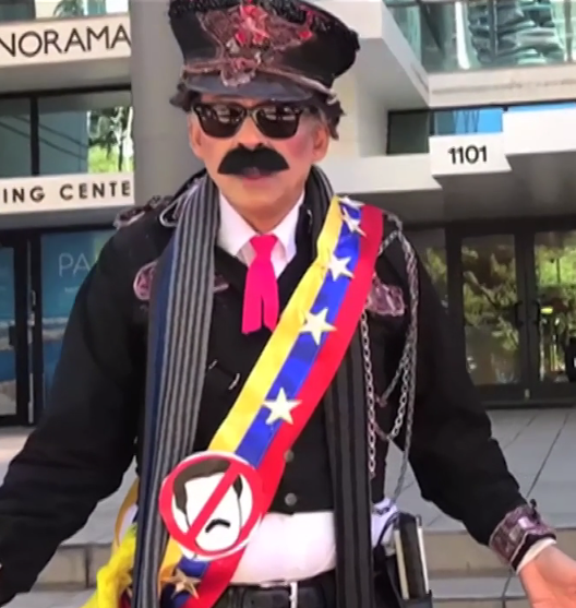 A Miami protestor dressed as Maduro Jan 2019.png