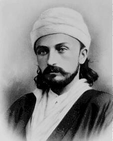 English: `Abdu'l-Bahá as a young man