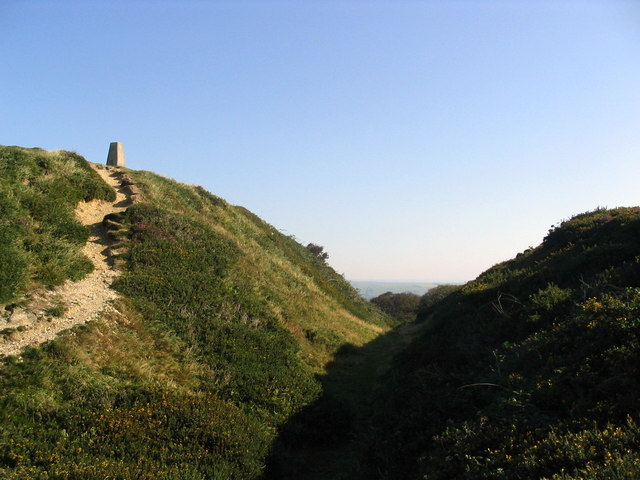 Abbotsbury Castle trig point - geograph.org.uk - 539456