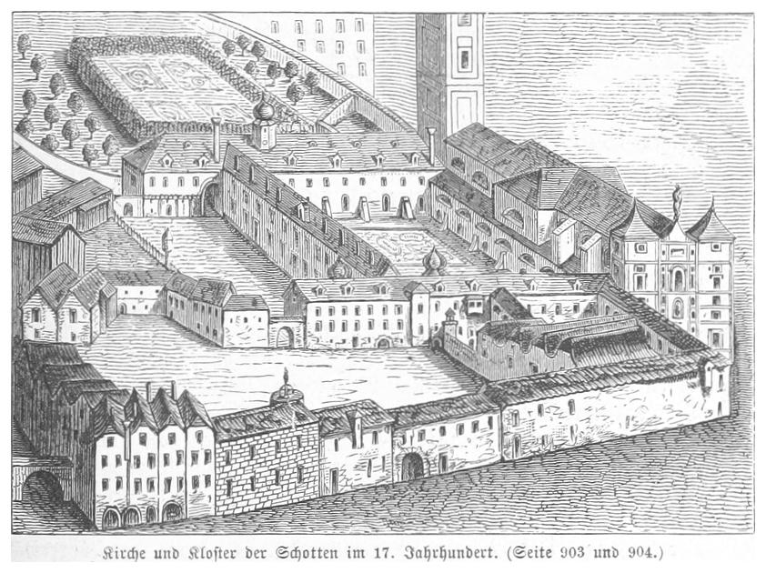 BERMANN(1880) p0951 Das Schottenkloster im 17. Jahrhundert.jpg