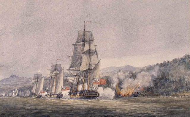 Battle of Valcour Island in the American Revolutionary War.