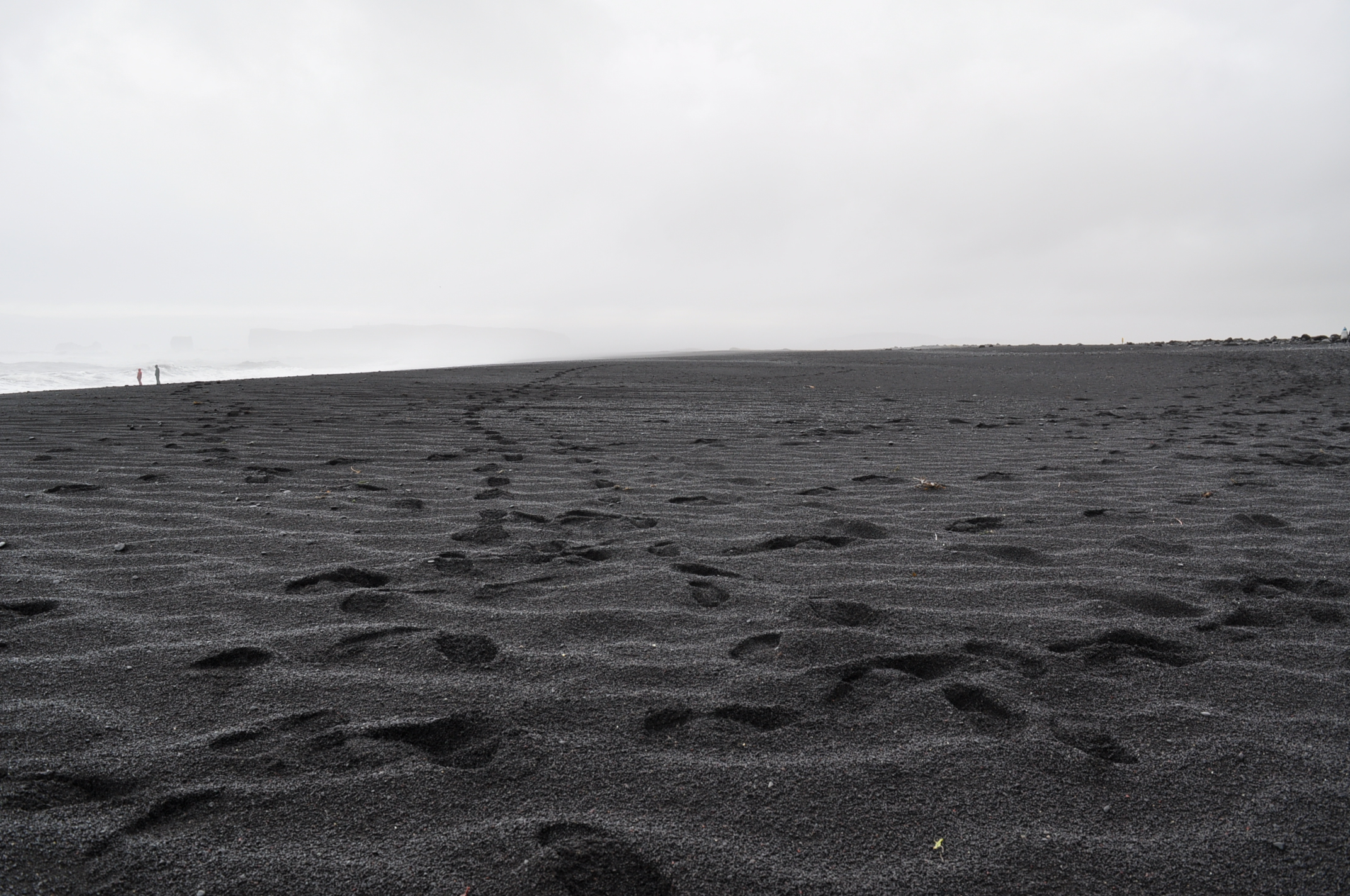 Black Sand In Nature
