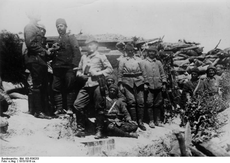 Dosya:Bundesarchiv Bild 183-R36253, Türkei, Gallipoli, MG-Unterstand.jpg