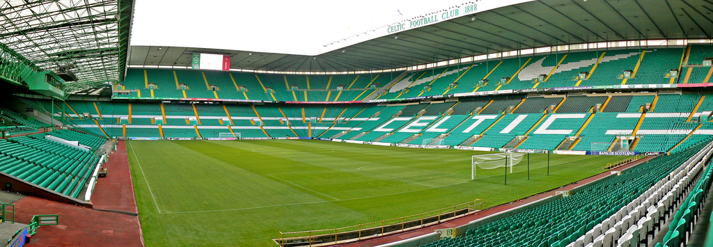 A panoramic view of Celtic Park