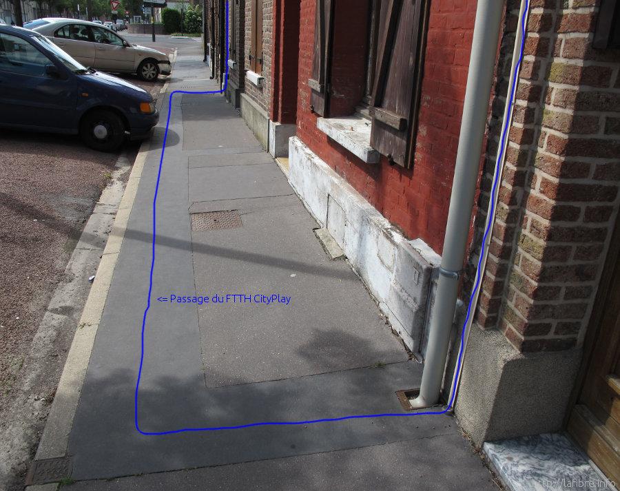 File chemin d 39 un c ble fibre optique cityplay - Raccordement fibre optique maison individuelle ...