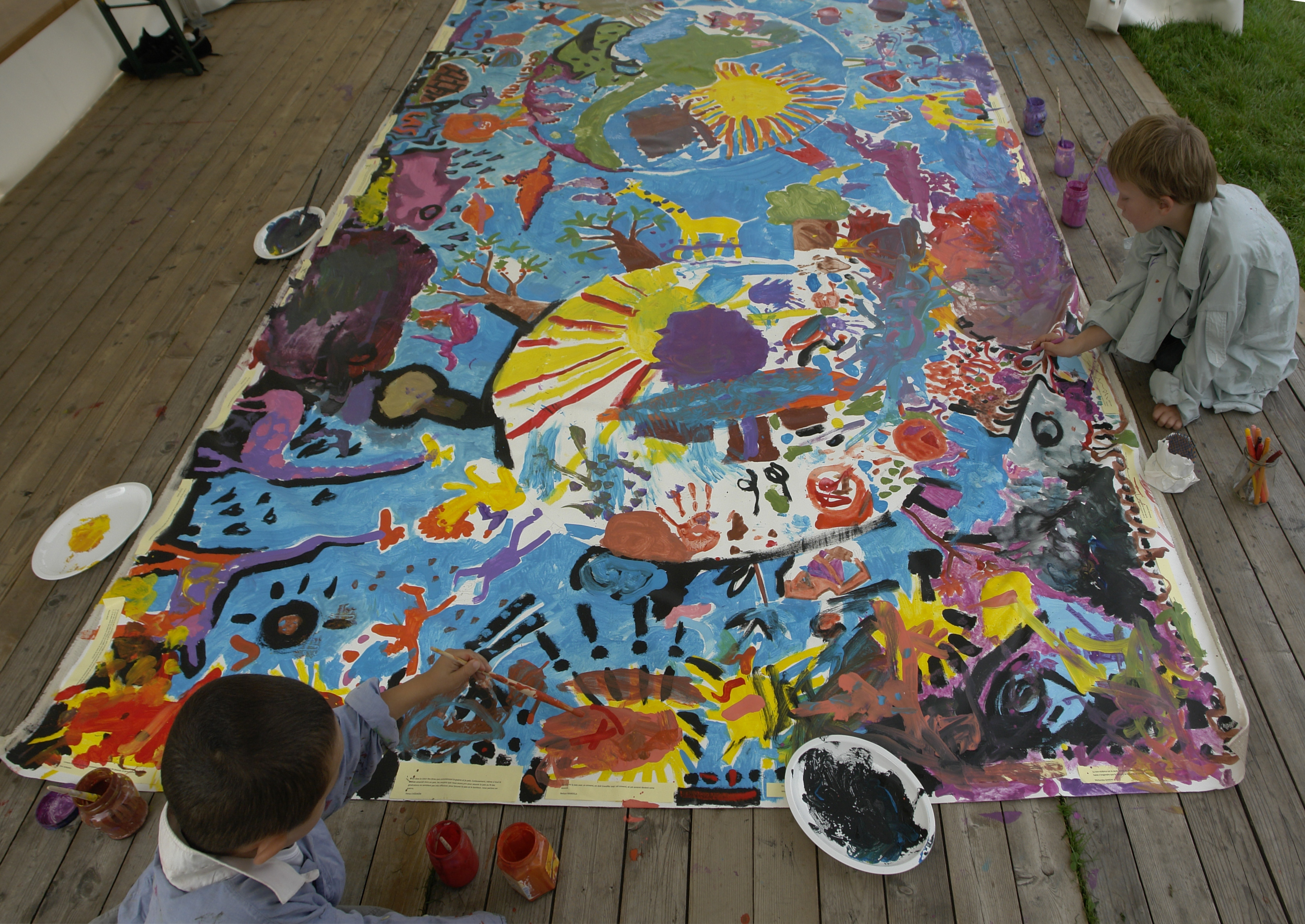 Mural Painting Materials Used