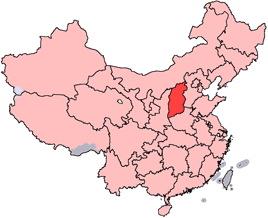 Shanxi is highlighted on this map