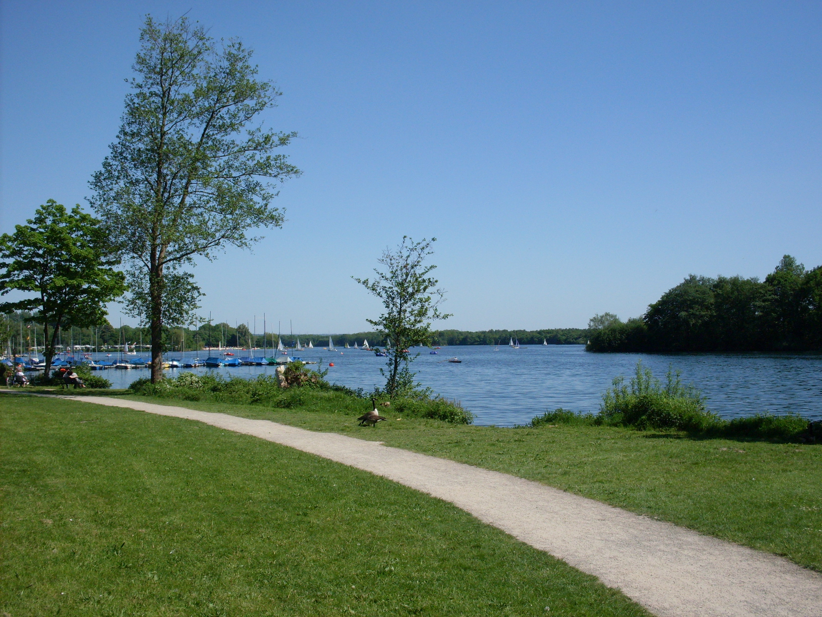 The Unterbacher See lake and park