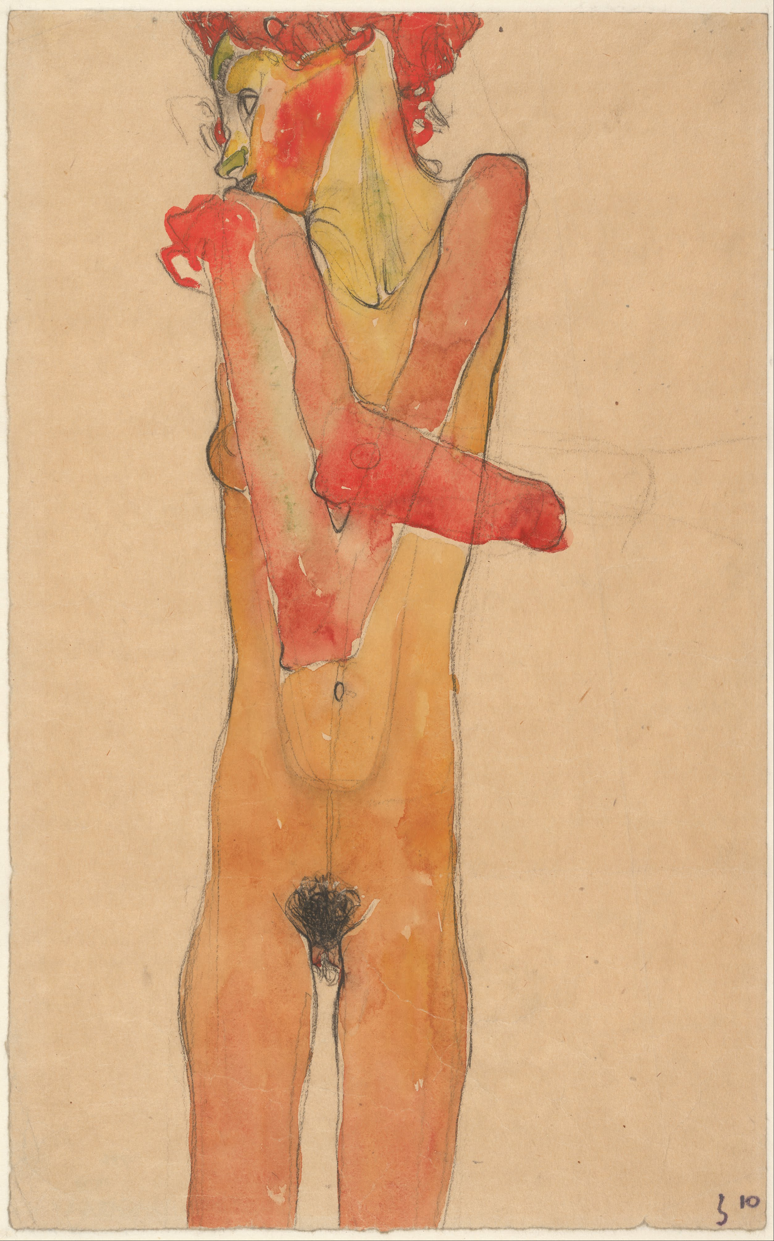 Fileegon Schiele - Girl Nude With Folded Arms, 1910 -2359