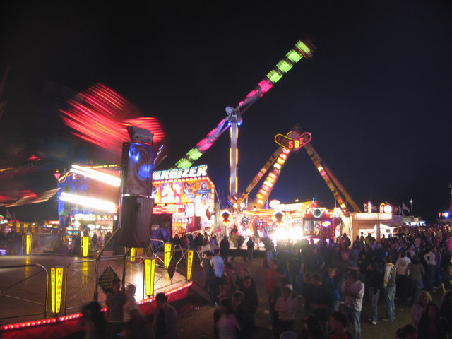 File:Fairground on St. Matthews Field - geograph.org.uk - 257793.jpg