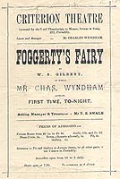 <i>Foggertys Fairy</i> play written by W. S. Gilbert
